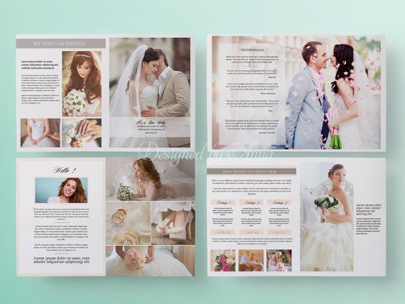 Wedding Magazine Template Price List Template For Wedding Photographer 10 Pages Instant Download Printable Marketing Price Guide Template