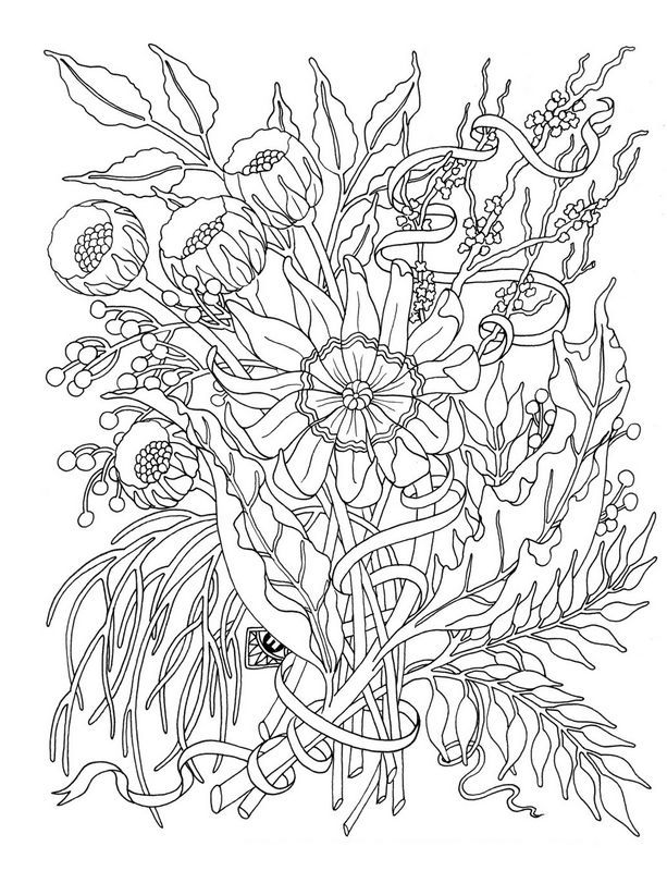 coloring For adults, page To customize | Flowers to Color ...