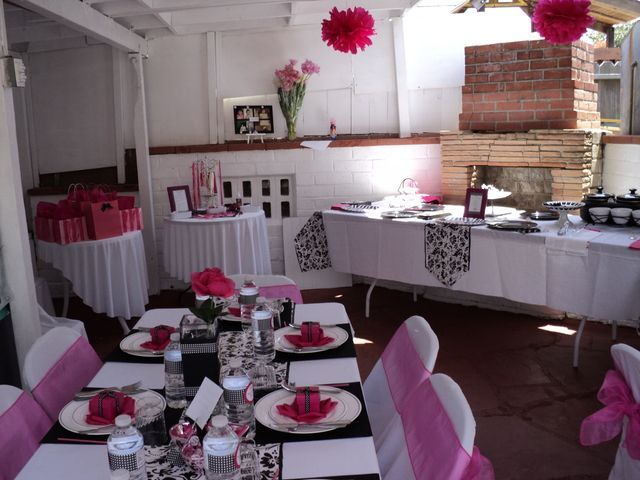 pink black and white baby shower | Photo 10 of 16: Hot pink,black and white. / Baby Shower/Sip & See ...