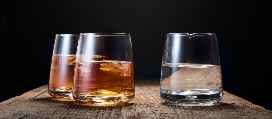 English Crystal Whiskey Glasses, Kaufmann Mercantile