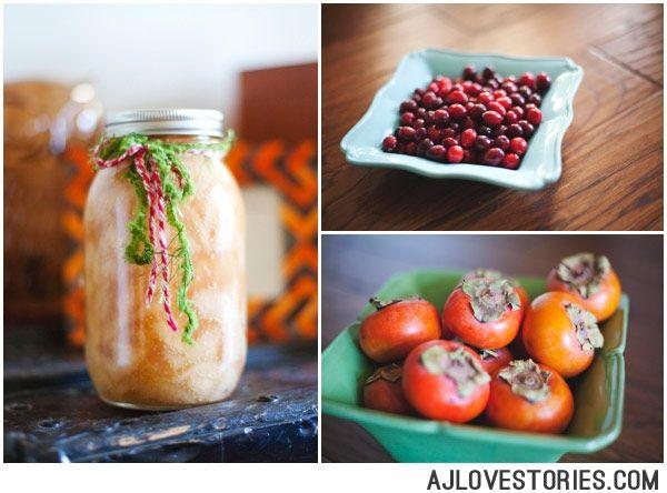 Cranberry Apple & Persimmon Crisp | Amanda Jameson Photography