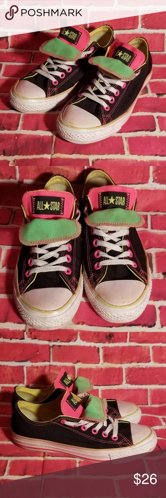 CONVERSE Double Tongue Neon Colored All Stars CONVERSE