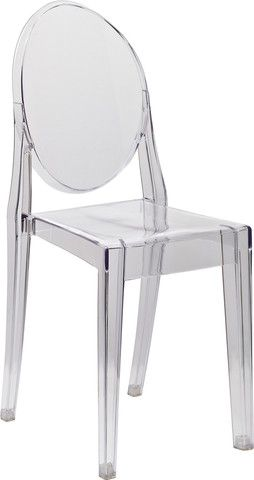 Ghost Side Chair in Transparent Crystal  Interior Design