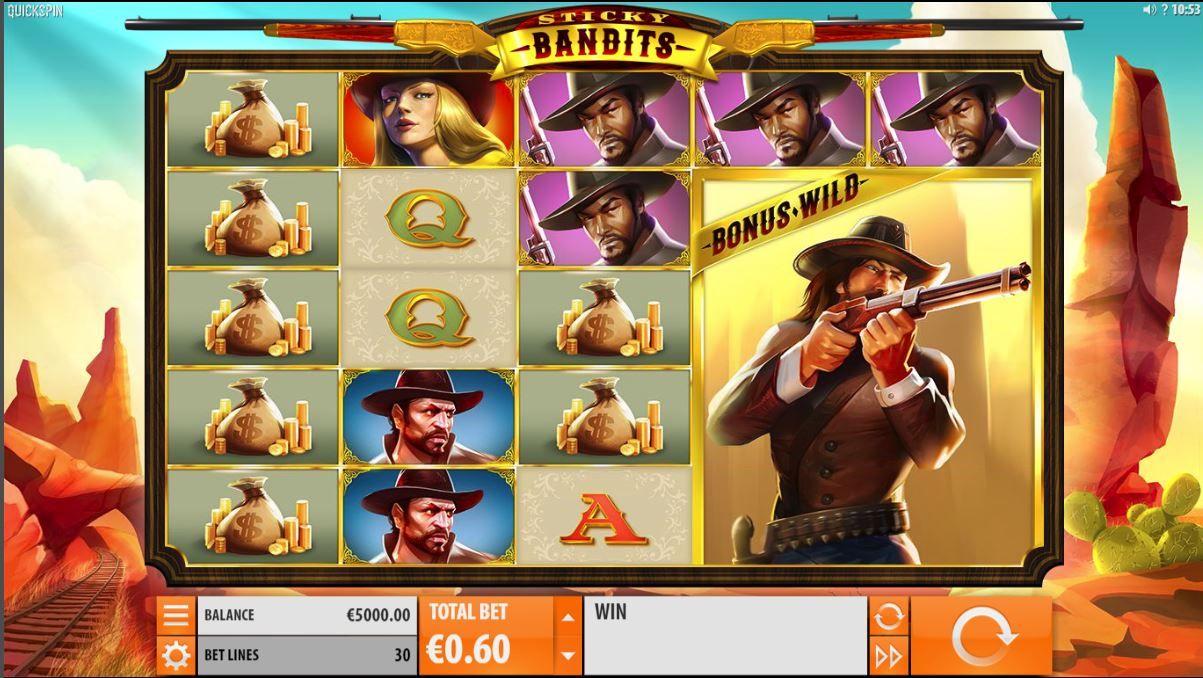 Sticky Bandits Free Play Slot