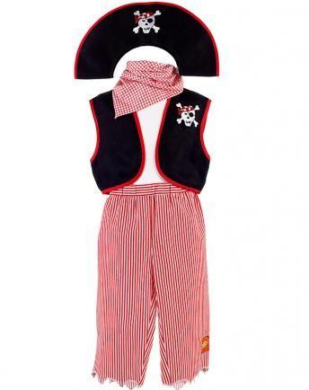 Piraten-Kostüm O´MALLY in rot/weiß/schwarz | Kostüme | Pinterest ...