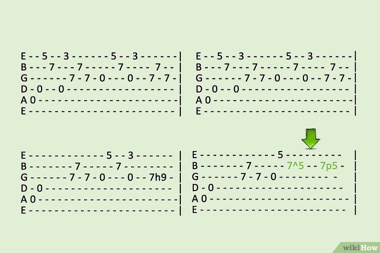 How to read guitar tabs with pictures wikihow guitar
