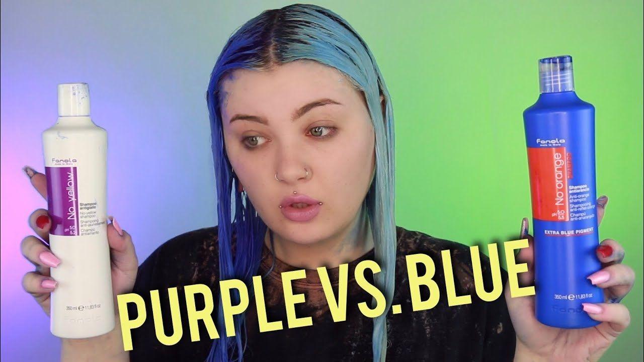 Blue Vs Purple Shampoo Purple Shampoo Blue Toning Shampoo Purple Shampoo Toner