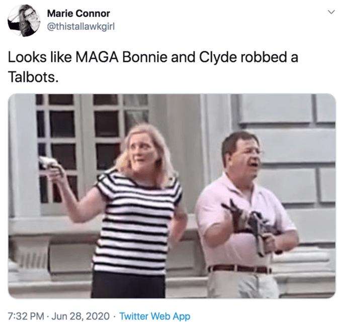 Crazed Ken Karen Wave Guns At Blm Protestors Get Meme D In 2021 Karen Memes Funny Funny Memes