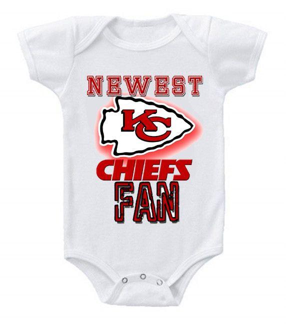 online store 0c197 e8451 NEW Football Baby Bodysuits Creeper NFL Kansas City Chiefs ...