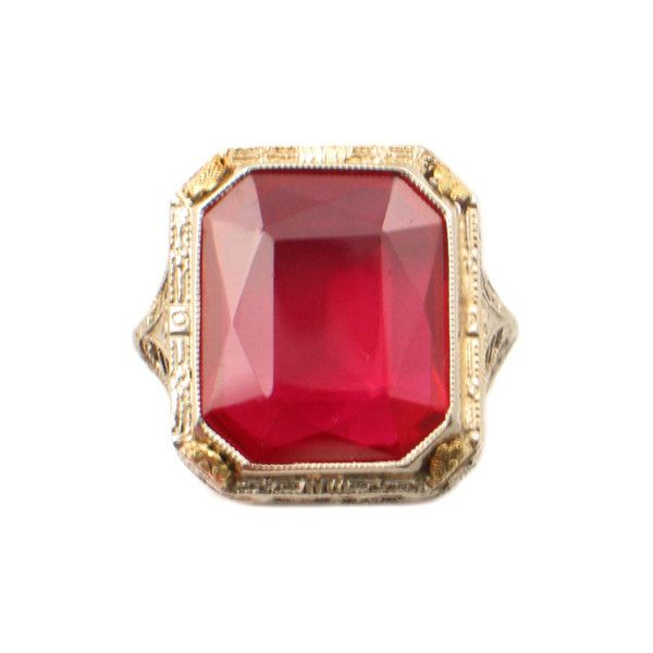 3d30804d7 Antique Ladies Ruby Ring in 14K Gold • Size 5.75 by EncoreJewelryandGems on  Etsy