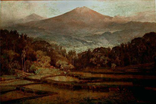 Basoeki Abdullah - Pemandangan Gunung | Pemandangan, Lukisan korea ...