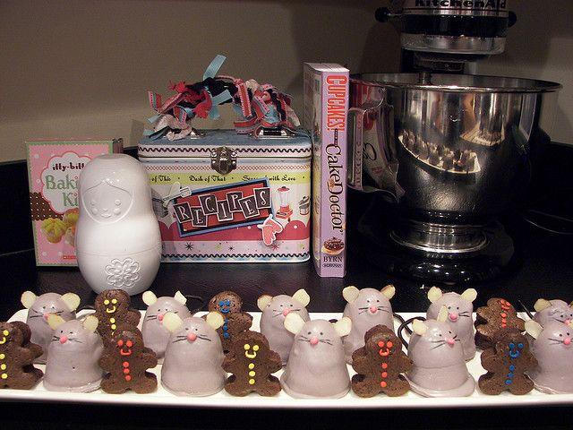Chocolate Covered Brownie Mice