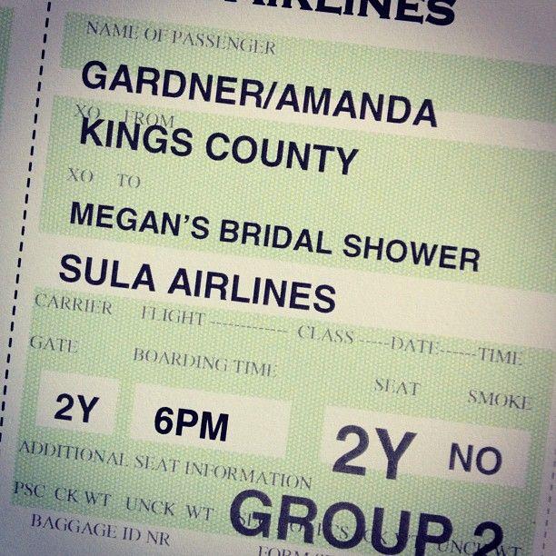 Growing Up Gardner: Honeymoon Bridal Shower - Vintage Travel Theme
