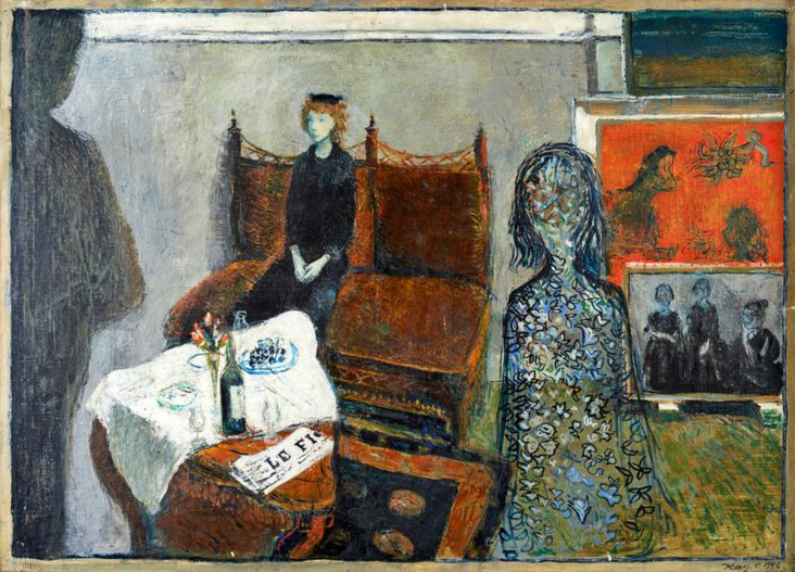 Kay Christensen, Den brune sofa, 1946   Painting, Art, Lod