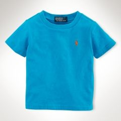 Polo by Ralph Lauren - Classic SS Cotton Crewneck Tee - Optic Blue - $18.00 - size:  5