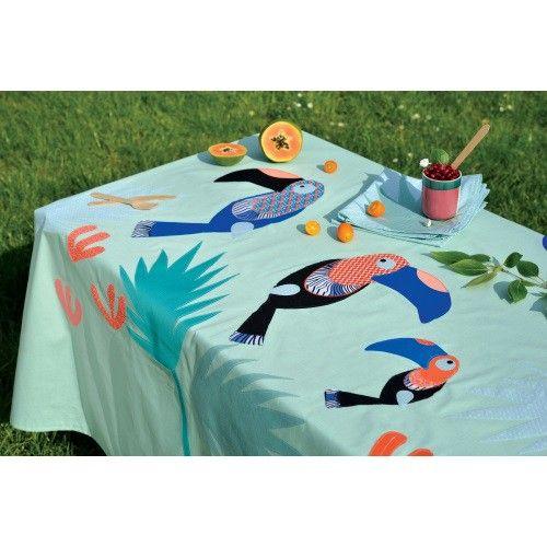 nappe et serviettes toucan boutique modes travaux. Black Bedroom Furniture Sets. Home Design Ideas