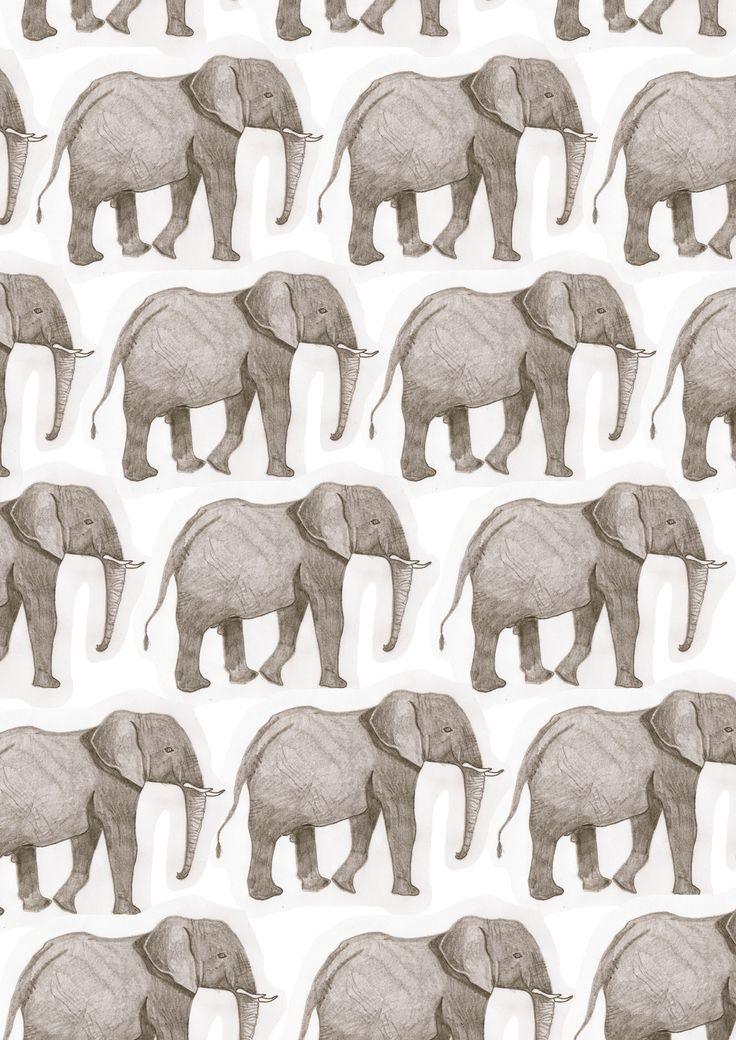 Elephant pattern Pattern Pinterest Patterns