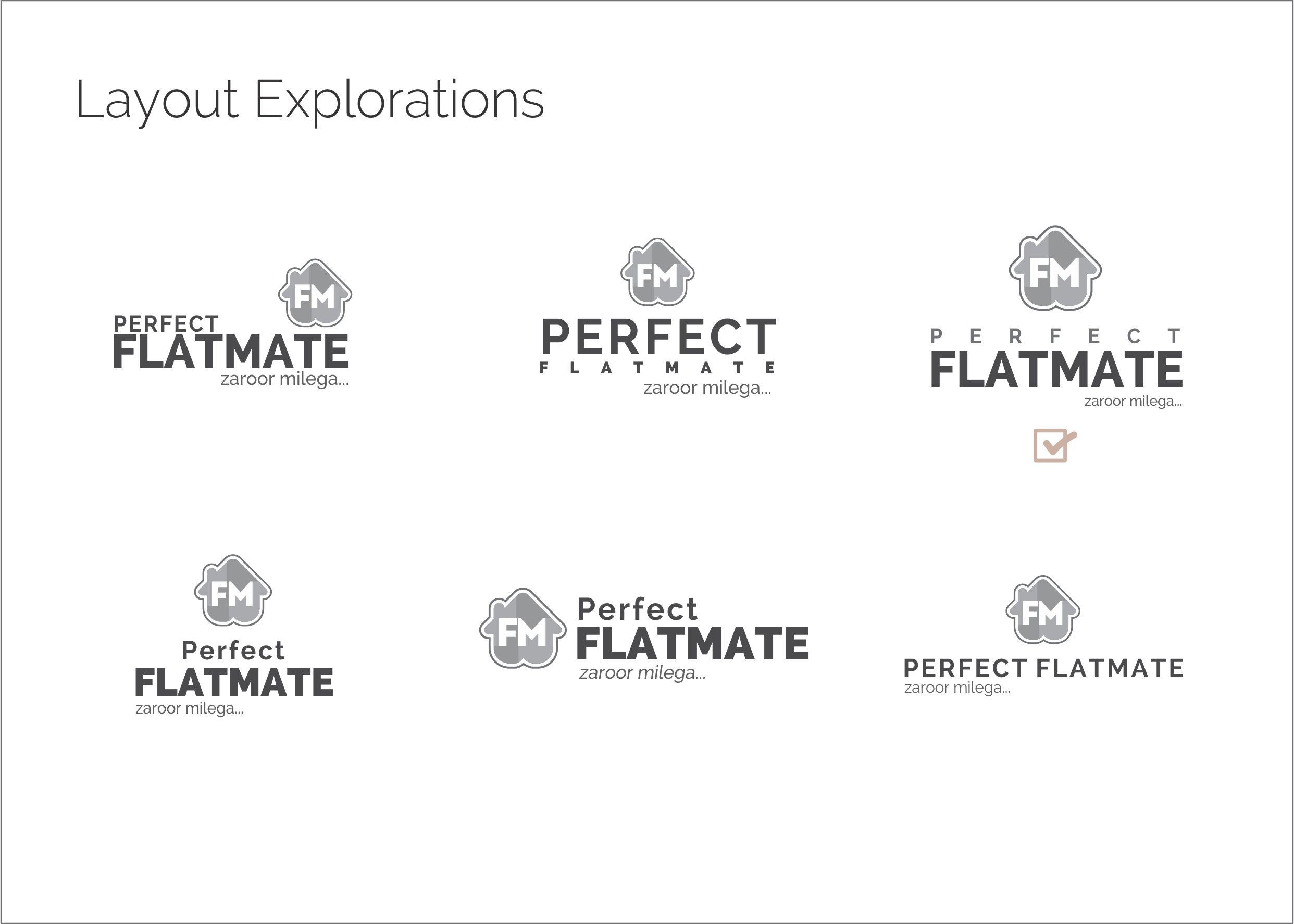 Layout Explorations of logo design