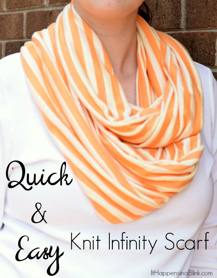 Knitting A Scarf Quickly : Quick and easy knit infinity scarf make an