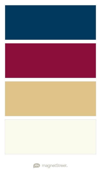 Navy, Burgundy, Gold, and Ivory Wedding Color Palette ...