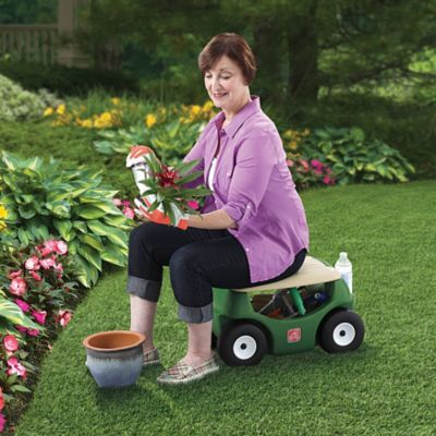 Garden Hopper Mobile Garden Stool With Images Gardening Outfit