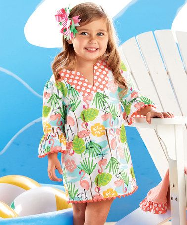 Pink & Green Flamingo Tunic - Infant #zulily #zulilyfinds