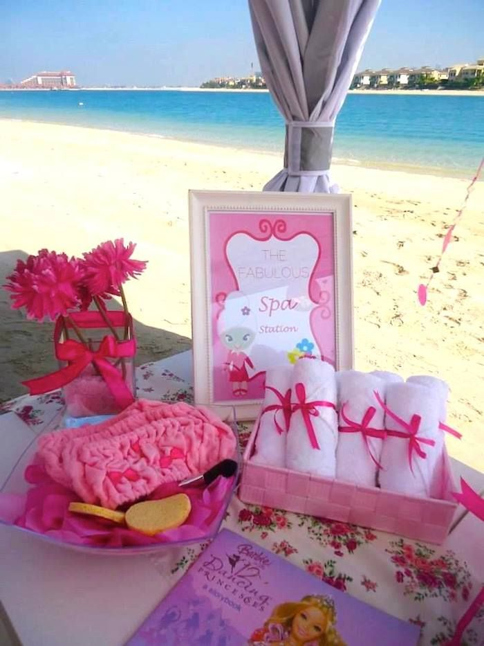 Seaside Spa Birthday Party With Lots Of Really Cute Ideas Via Karas