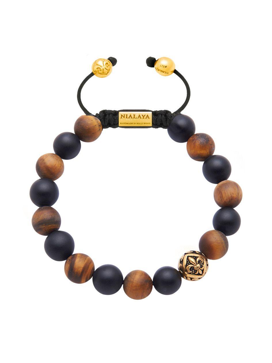 Diamant Perles Et Bracelet En Saphir - Nialaya Noir 4UNeYxIpz