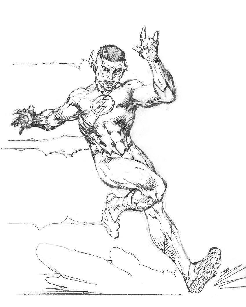 kid flash pencils by jim dcrebirth character design