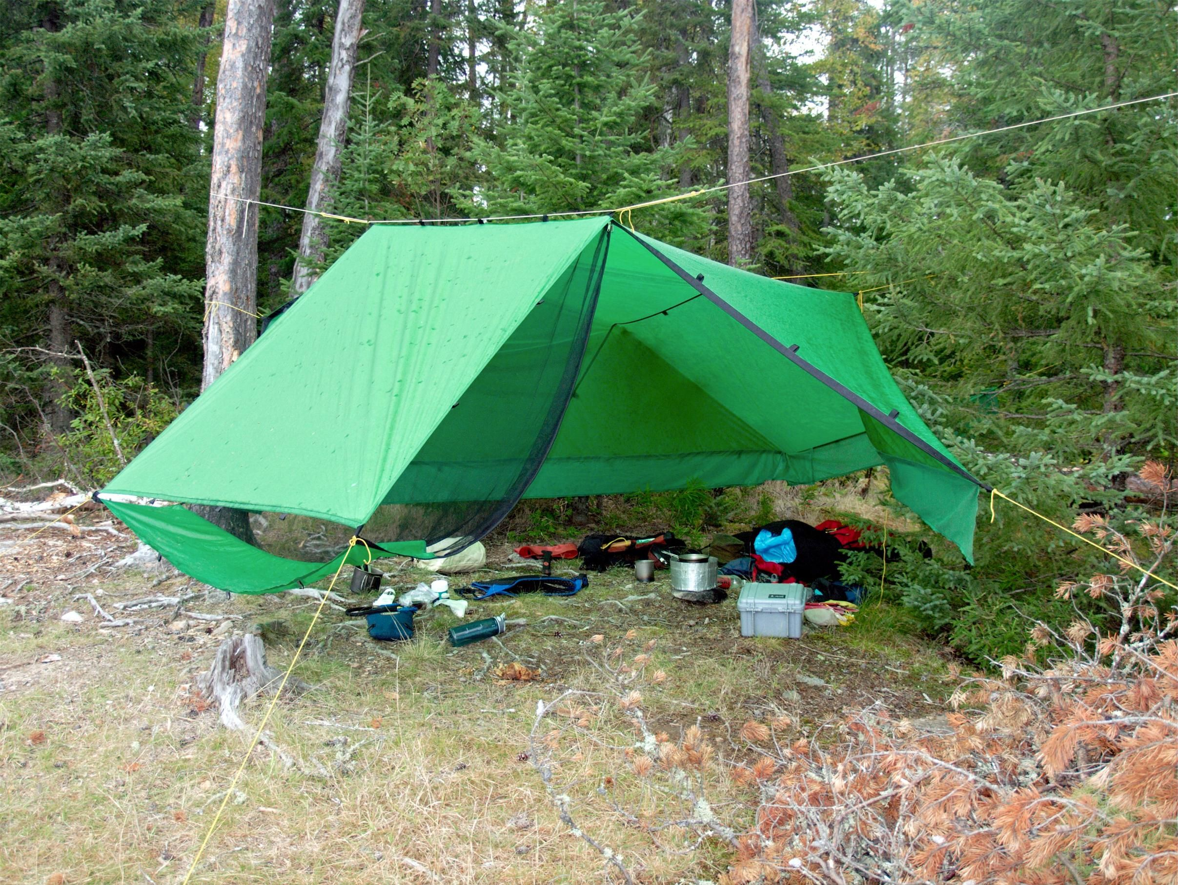Bwca Pitching Tent In The Rain Boundary Waters Gear Forum