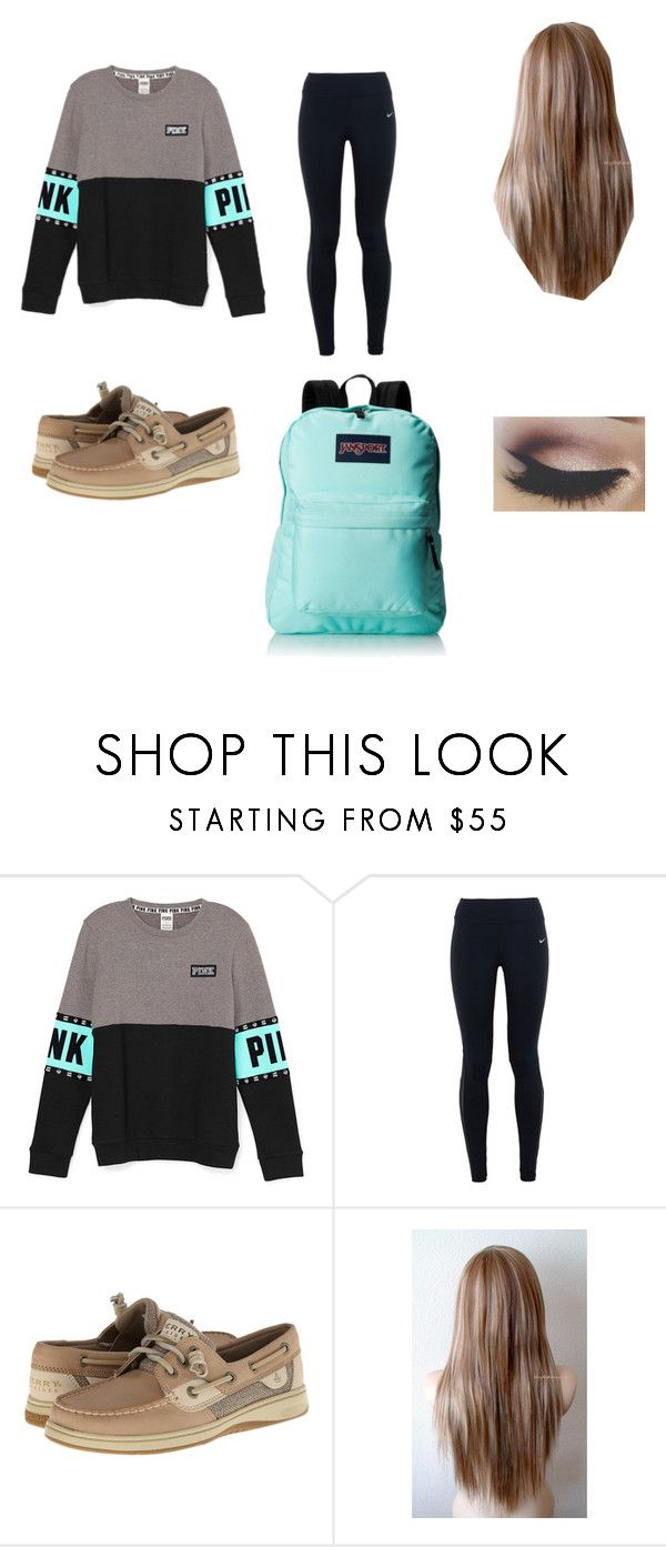 """""""Untitled #5"""" by moshea0812 ❤ liked on Polyvore featuring NIKE, Sperry Top-Sider and JanSport"""