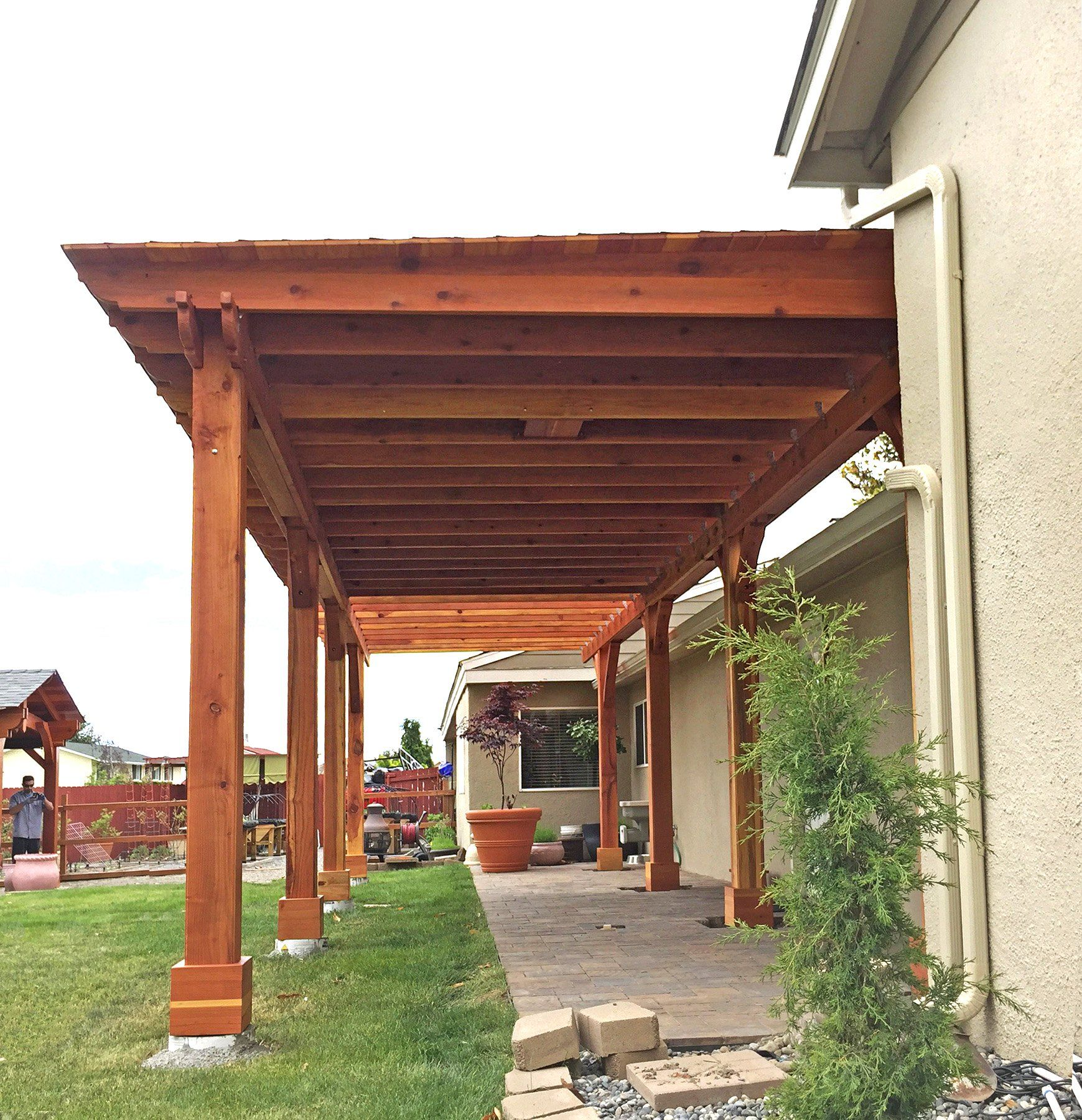 custom shed pavilion options 12 x 24 redwood one ceiling fan base electrical wiring trim kit for 1 post gale wind anchors for 8 posts  [ 1739 x 1800 Pixel ]