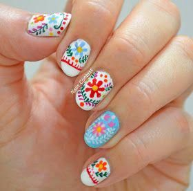 nails context mexican embroidery nails nailspring