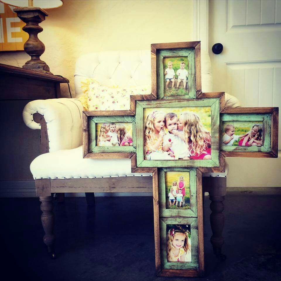 Beautiful Wood Cross Picture Frame Would Love This For My Living