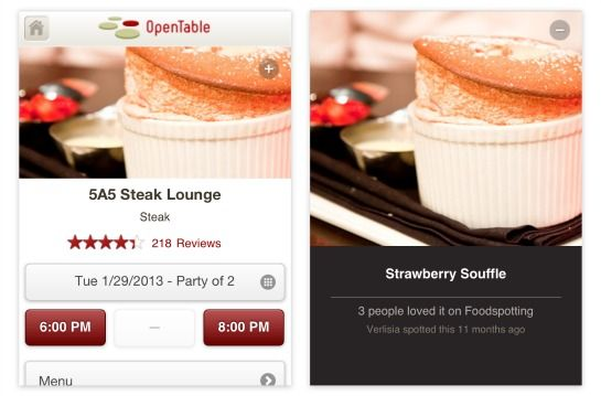 Foodies Spot Great Meals With Opentable And Foodspotting App Road Trip Fun Foodie Road Trip