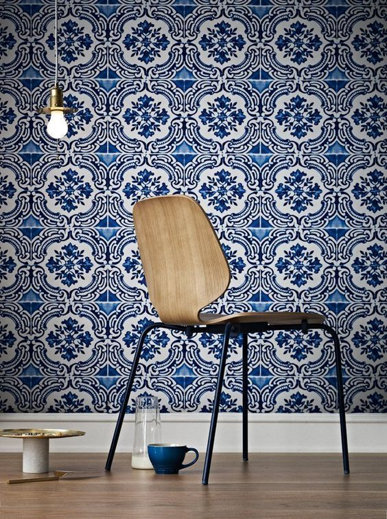 Azulejos wallcovering by Christian Lacroix