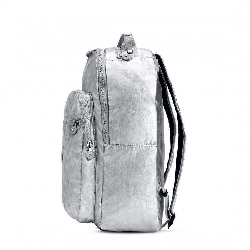 d4edcc00e6 Kipling Seoul Metallic Laptop Backpack - Platinum Metallic - Kipling   kipling  backpack  ss16  fashion