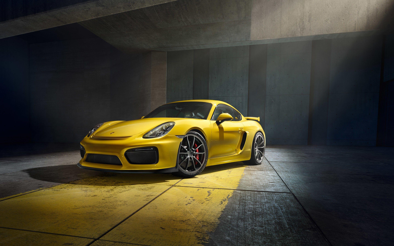 Porsche Cayman GT Yellow Sport Car Wallpaper New HD Wallpapers