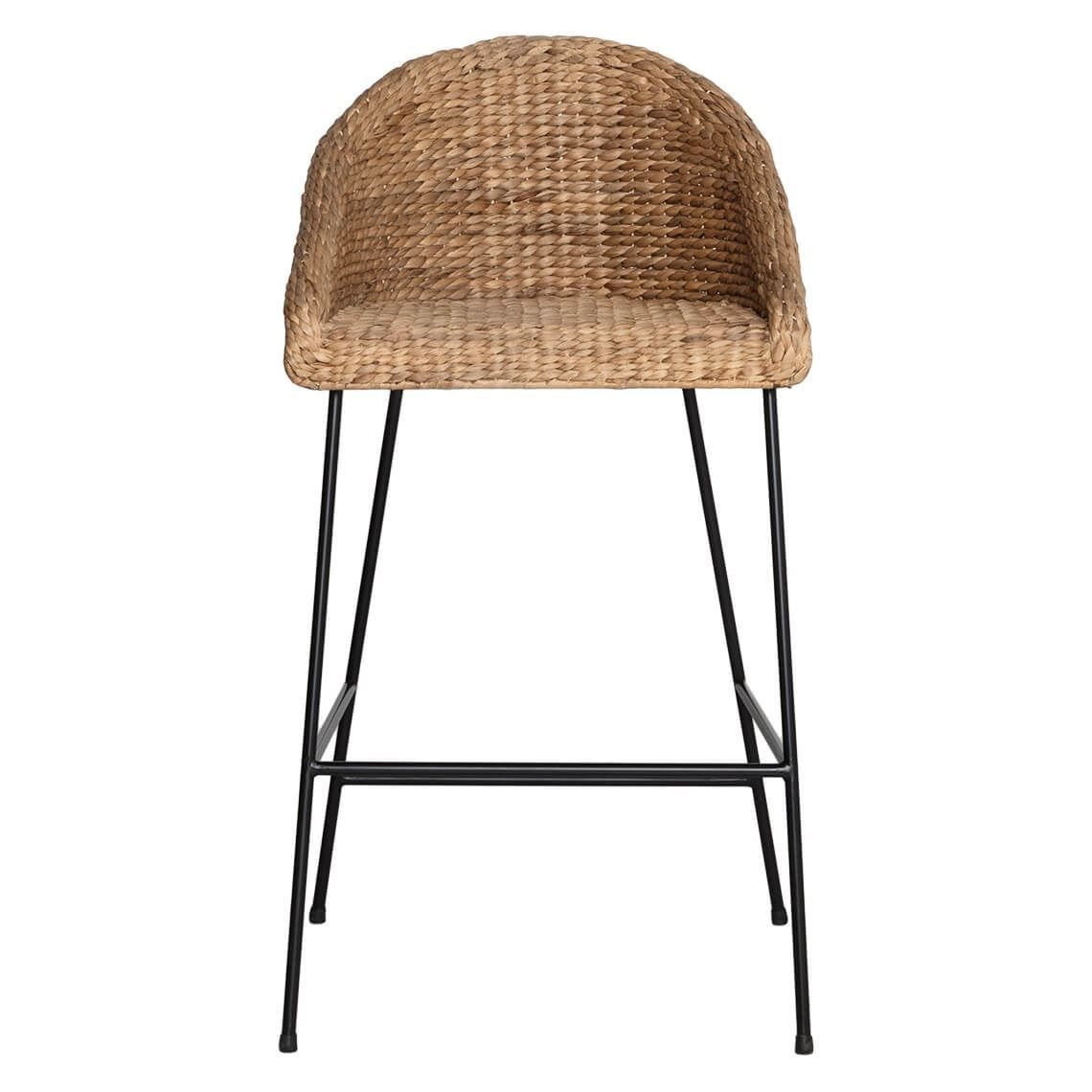 Delfina Bar Stool Natural Black Wicker Bar Stools Bar Stools Rattan Bar Stools
