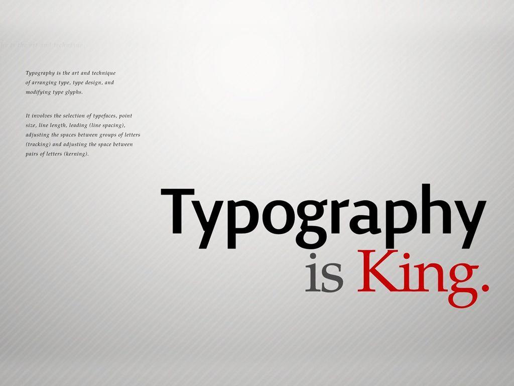 Simple and elegant typography typography typography