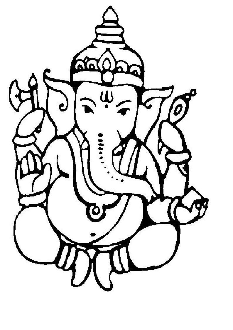 Lord Ganesha Free Coloring Pages For Kids In 2020 Ganesh Photo