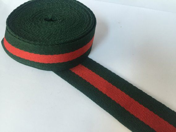 85205df4b01 1.2 in (3 cm) wide Green and Red Striped Elastic