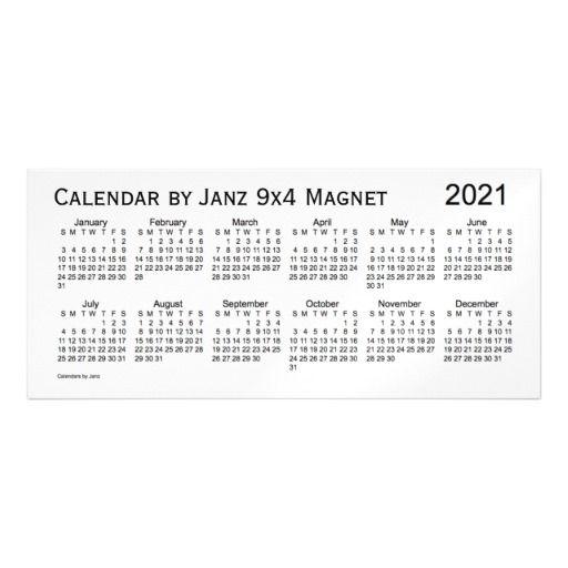2021 White Smoke Calendar By Janz 9x4 Magnet Birthday InvitationsMagnetsSmokeSnow