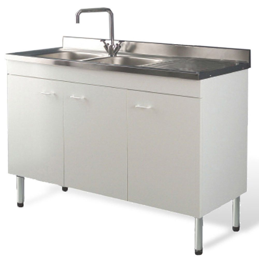 Dettagli su Mobile cucina con lavello acciaio inox 120 x 50 ...
