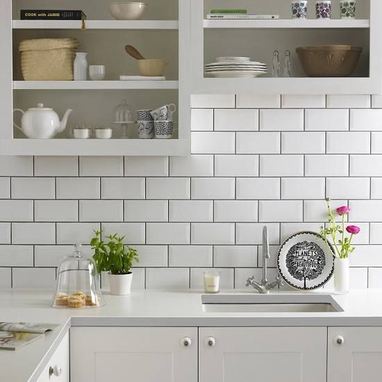 Revestimento Metro White 10x20 Cm Branco Retro Elianerevestimentos Ceramic Kitchen Kitchen Wall Tiles Brick Kitchen
