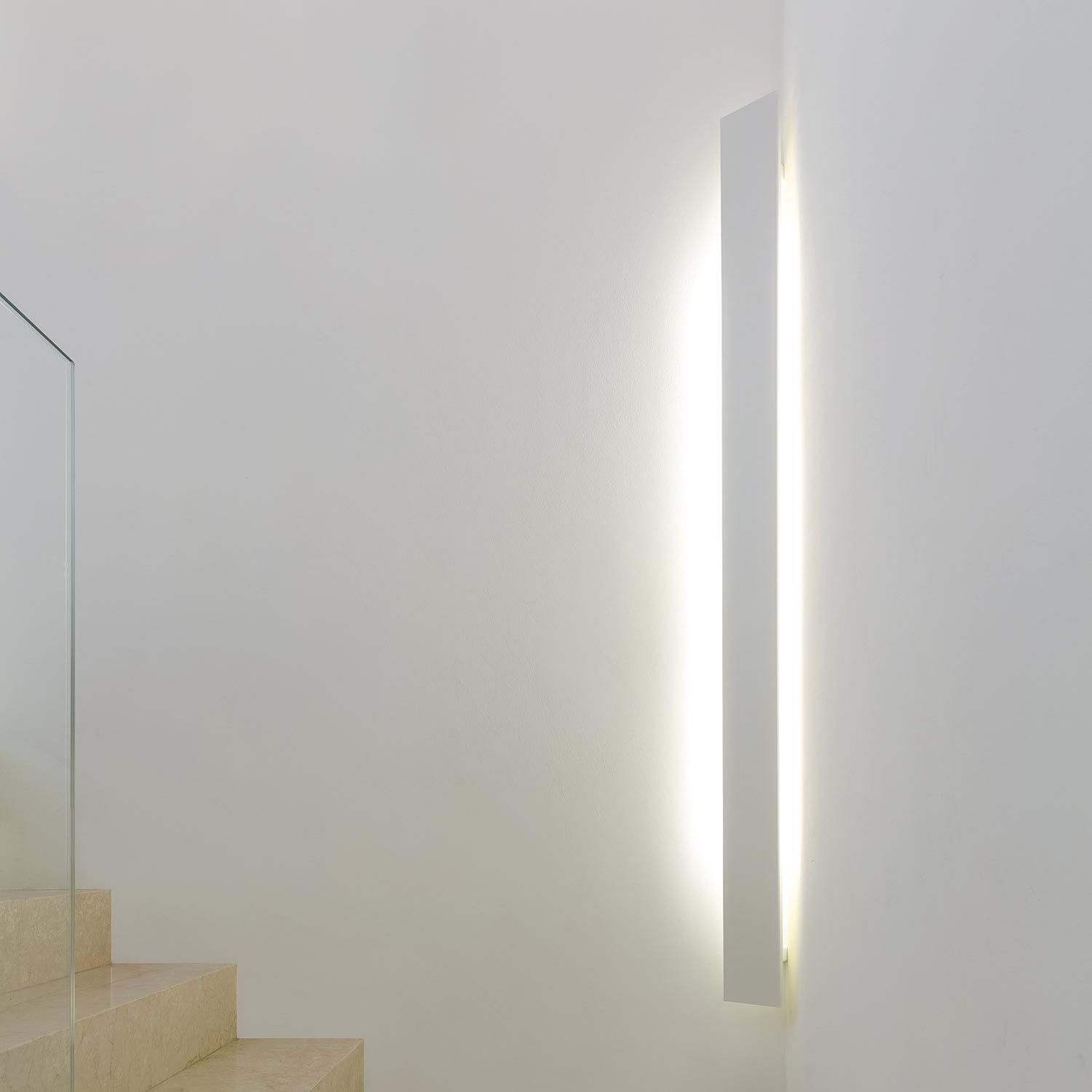 Wall Lighting Fixture Developed To Install The Lamp In Corners Obtain An Indirect Diffuse