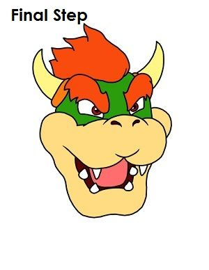 How To Draw Bowser Bowser How To Draw Mario Yoshi Drawing