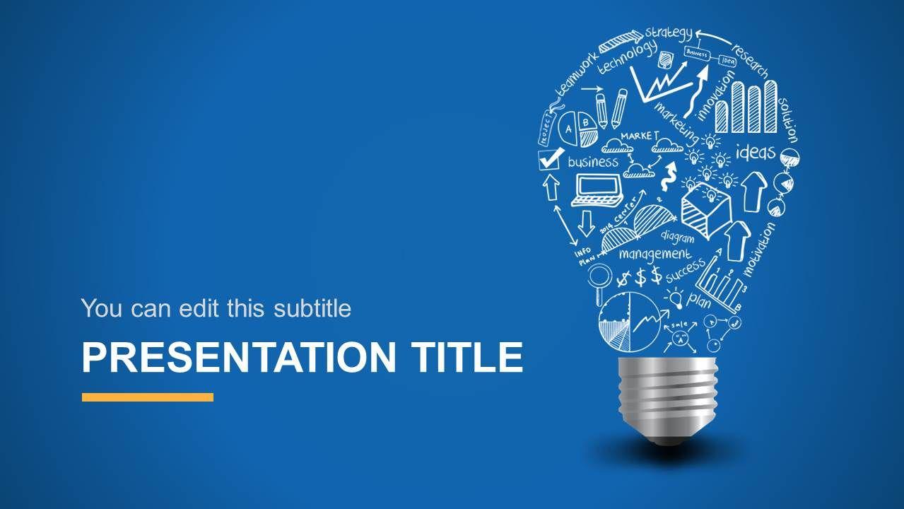 Light Bulb Idea Powerpoint Template Clip Creative Powerpoint