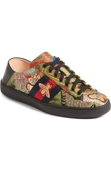 GUCCI New Ace Baroque Convertible Back Sneaker.  gucci  shoes ... a995511837be
