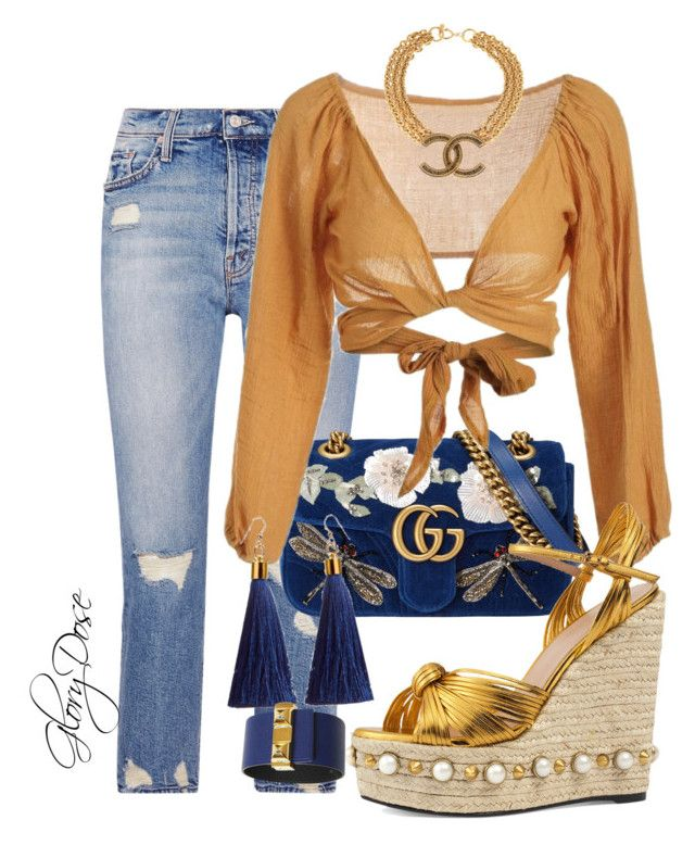 """Untitled #98"" by chichimia on Polyvore featuring Mother, Gucci, Hermès and Chanel"
